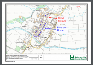 Planned Road Closure & Diversion for Middle Street & Main Street
